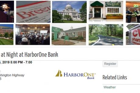 Networking at Night at HarborOne Bank