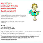 Uncle Jay's Traveling Breakfast Network - May 17