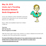 Uncle Jay's Traveling Breakfast Network - May 24