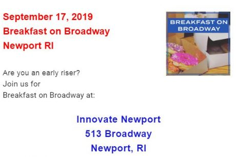Breakfast on Broadway Newport RI on September 17th