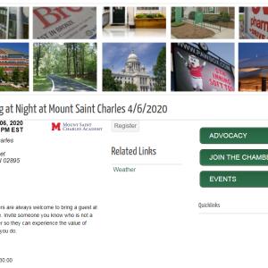 Networking at Night at Mount Saint Charles 4/6/2020