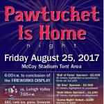 Pawtucket is Home Night