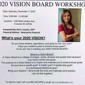 2020 Vision Board Workshop with Kei K. Lincoln