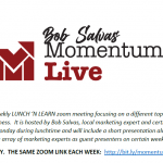 MOMENTUM LIVE: THE FORTUNE IS IN THE FOLLOWUP -with Bob Salvas